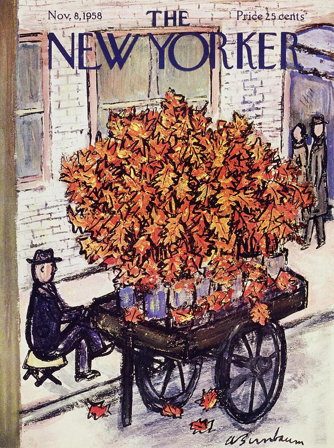 New Yorker November 8 1958 Painting by Abe Birnbaum