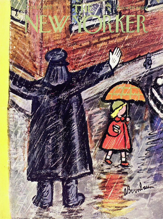 New Yorker October 10 1953 Painting by Abe Birnbaum
