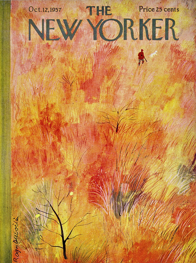 New Yorker October 12th 1957 Painting by Roger Duvoisin