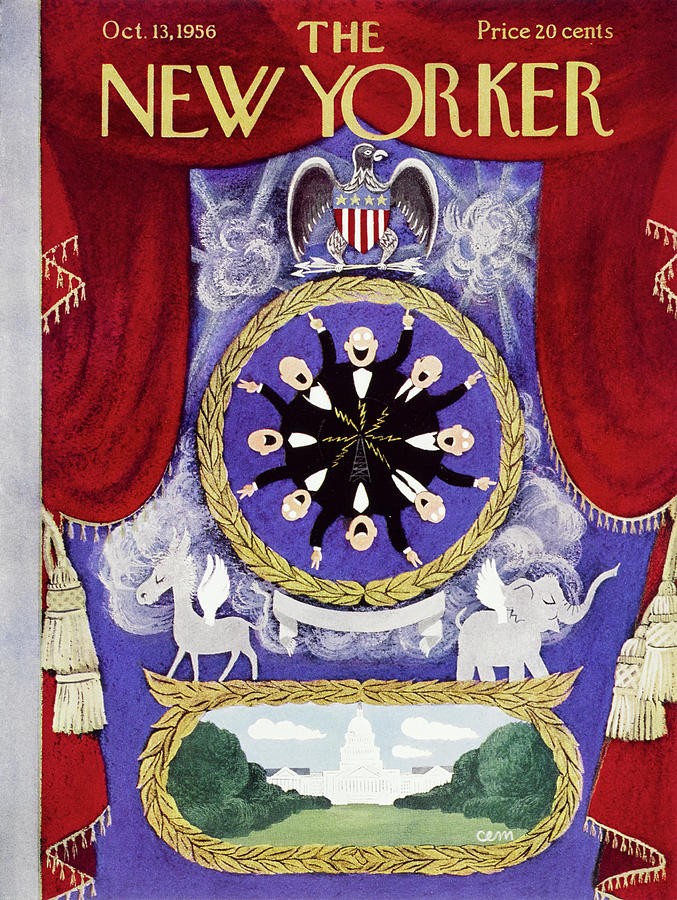 New Yorker October 13 1956 Painting by Charles E Martin