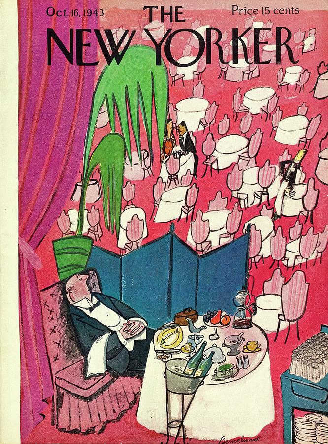 New Yorker October 16 1943 Painting by Ludwig Bemelmans