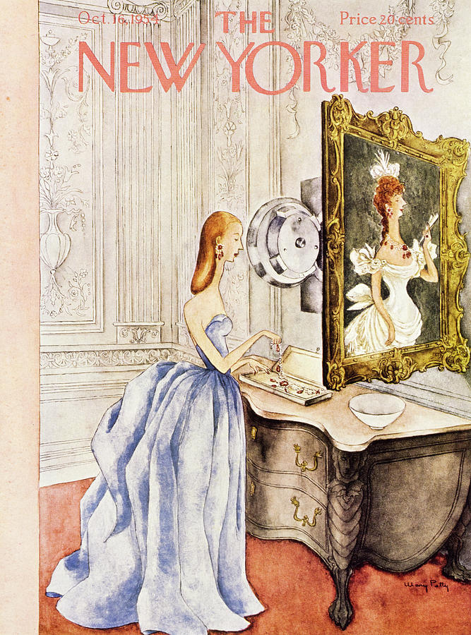 New Yorker October 16 1954 Painting by Mary Petty