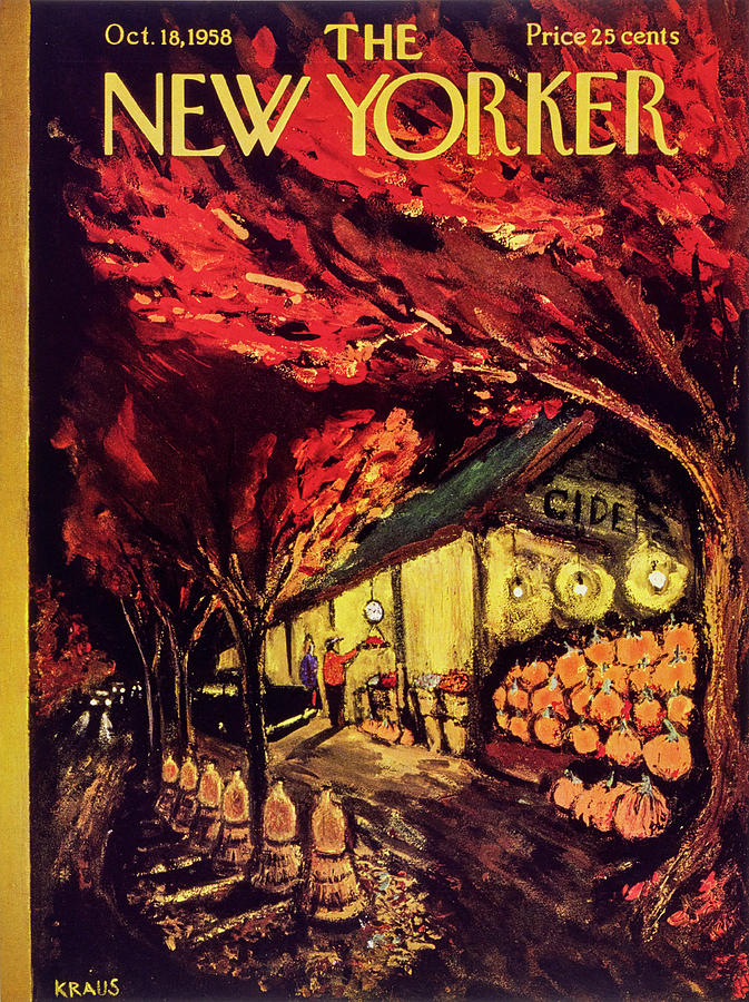 New Yorker October 18 1958 Painting by Robert Kraus