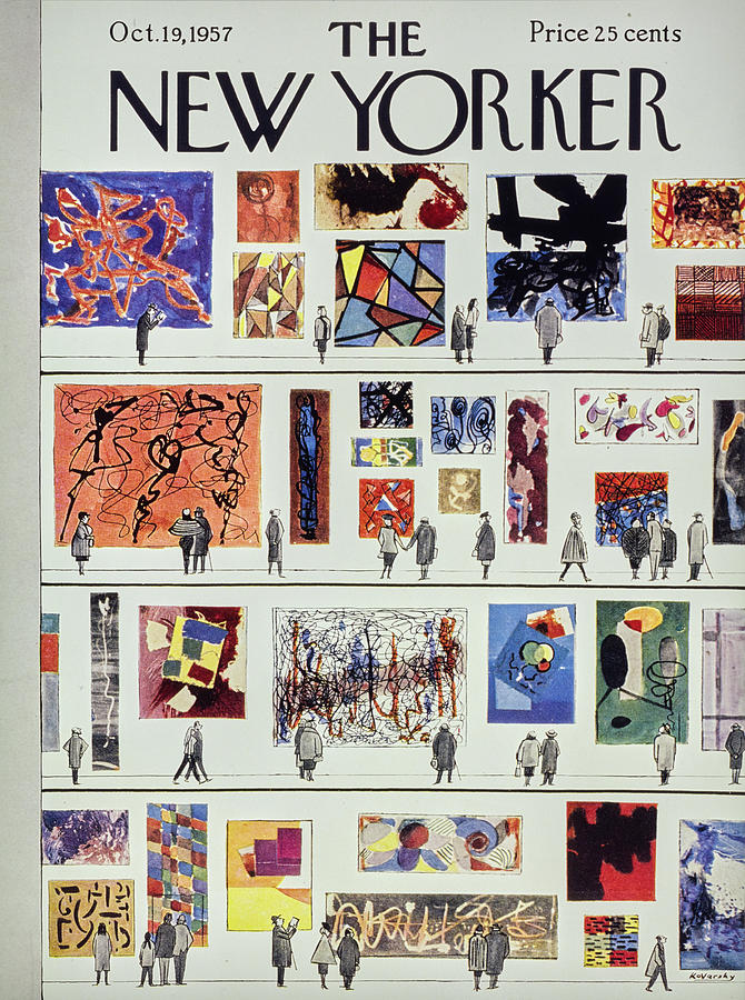 New Yorker October 19th 1957 Painting by Anatole Kovarsky