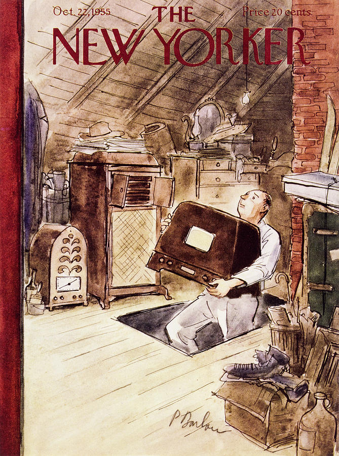 New Yorker October 22 1955 Painting by Perry Barlow