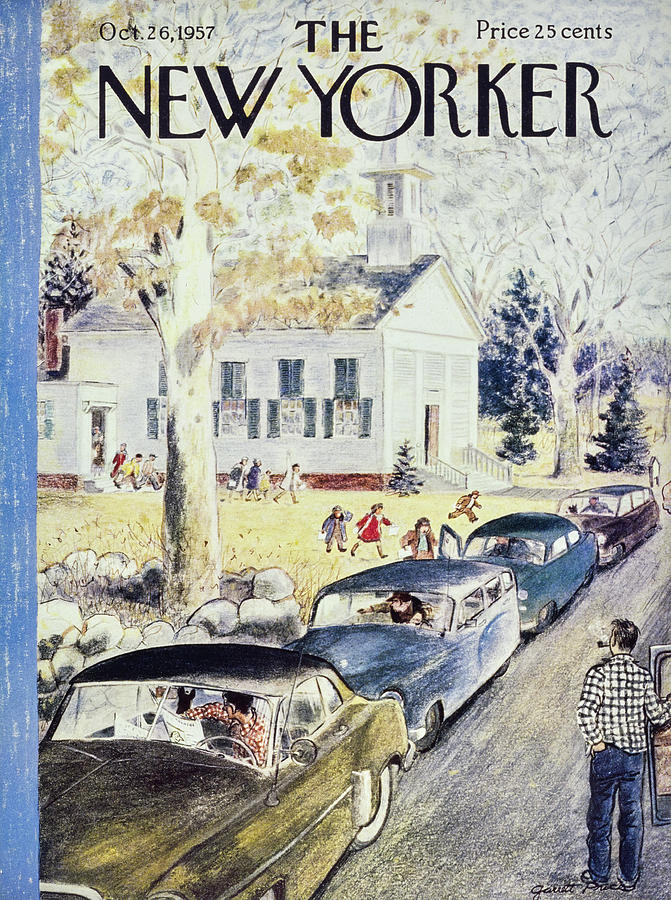 New Yorker October 26th 1957 Painting by Garrett Price
