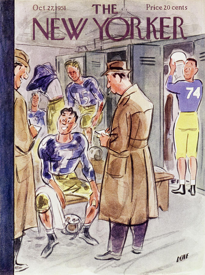 New Yorker October 27 1951 Painting by Leonard Dove