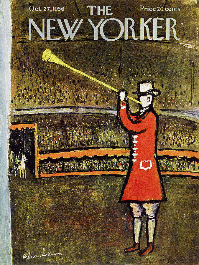 New Yorker October 27 1956 Painting by Abe Birnbaum
