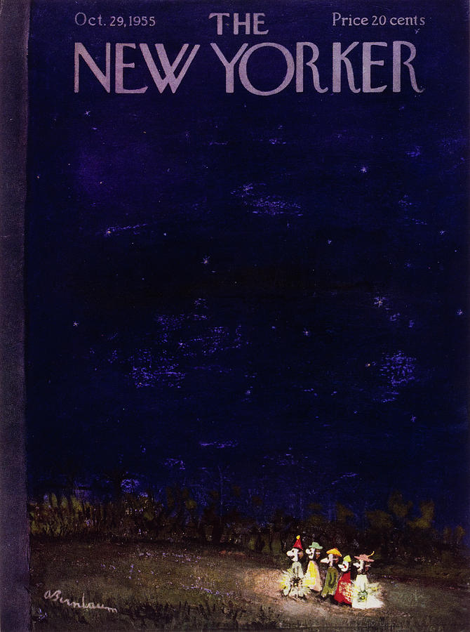 New Yorker October 29 1955 Painting by Abe Birnbaum
