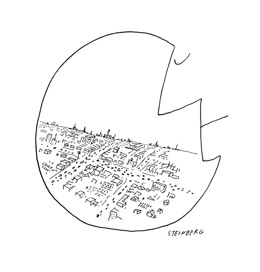 New Yorker October 29th, 1955 Drawing by Saul Steinberg