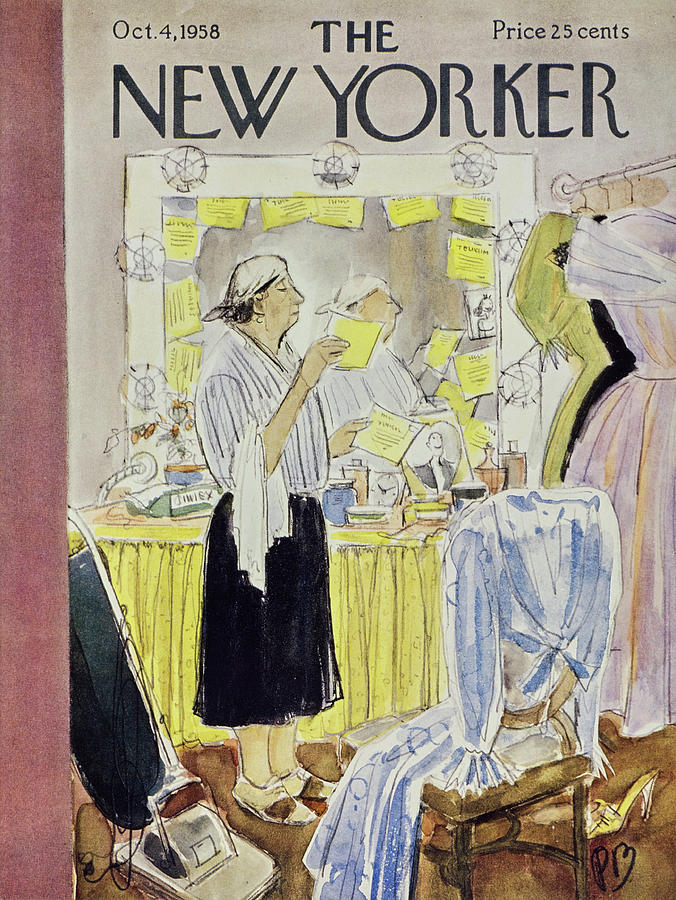 New Yorker October 4 1958 Painting by Perry Barlow