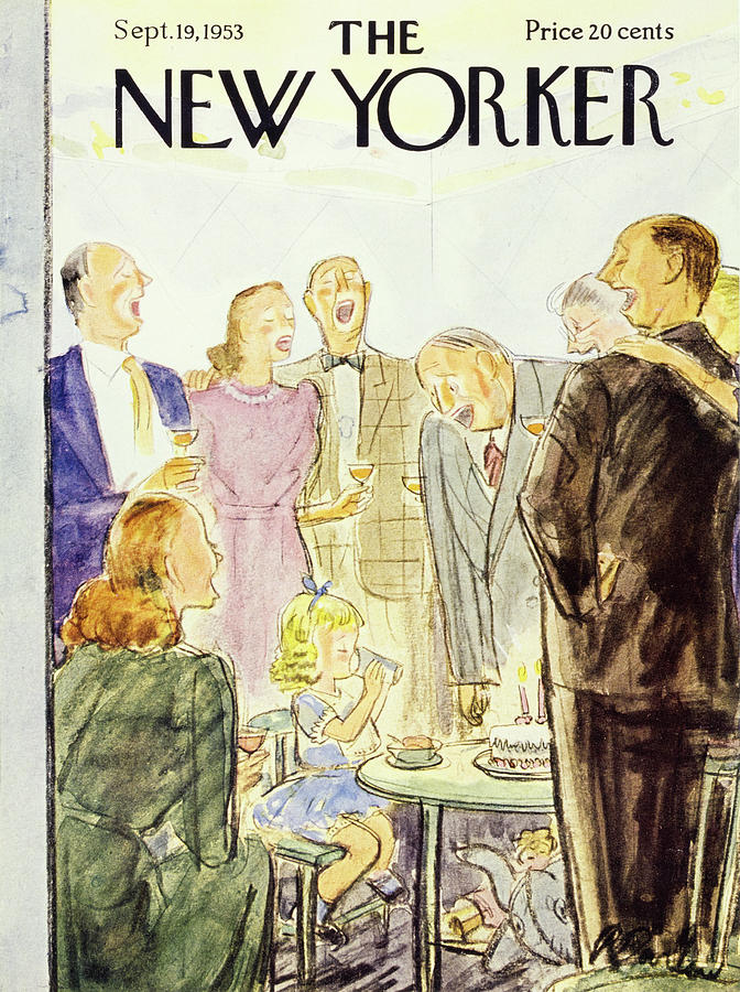 New Yorker September 19 1953 Painting by Perry Barlow