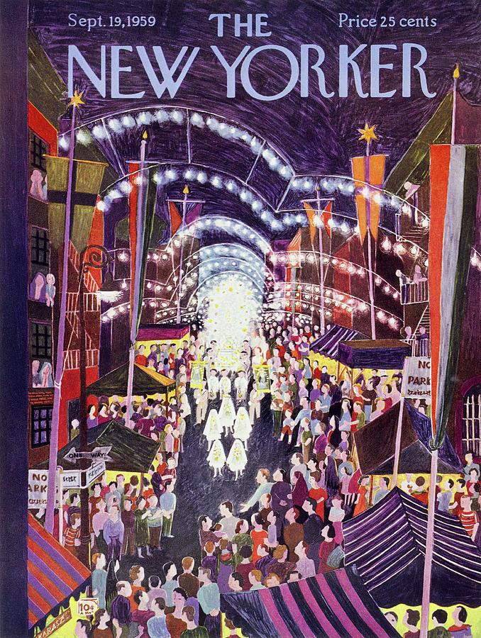 New Yorker September 19 1959 Painting by Ilonka Karasz