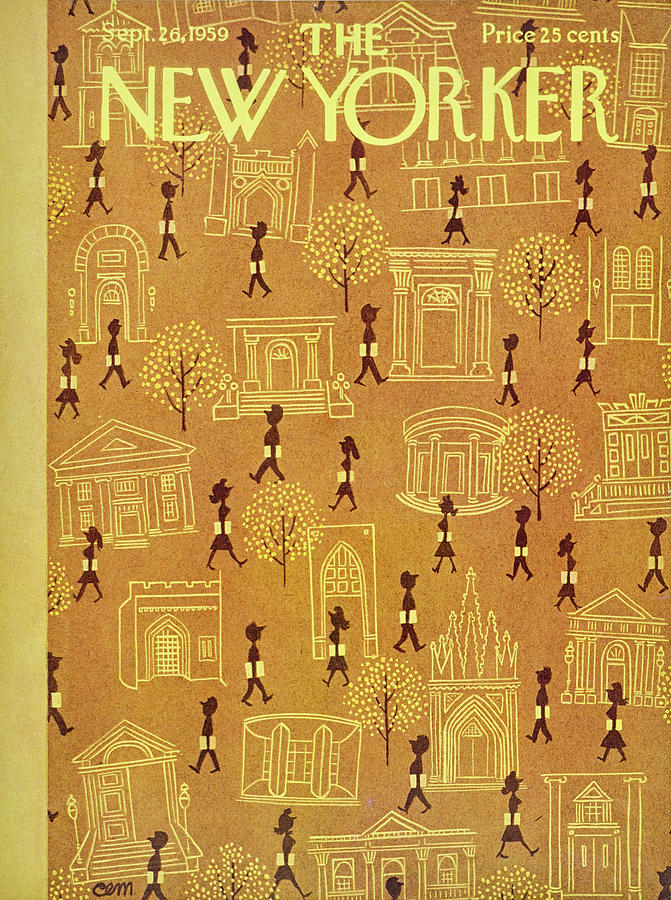 New Yorker September 26 1959 Painting by Charles Martin