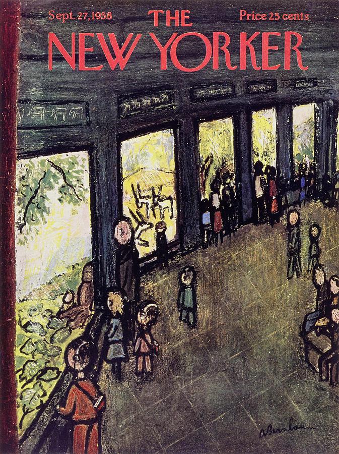 New Yorker September 27 1958 Painting by Abe Birnbaum