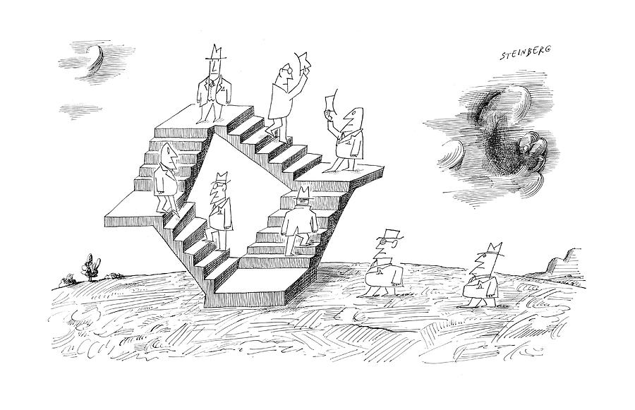 New Yorker September 2nd, 1961 Drawing by Saul Steinberg