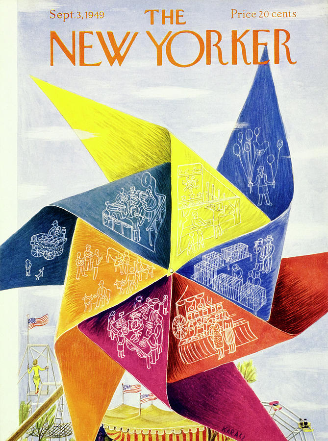 New Yorker September 3 1949 Painting by Ilonka Karasz