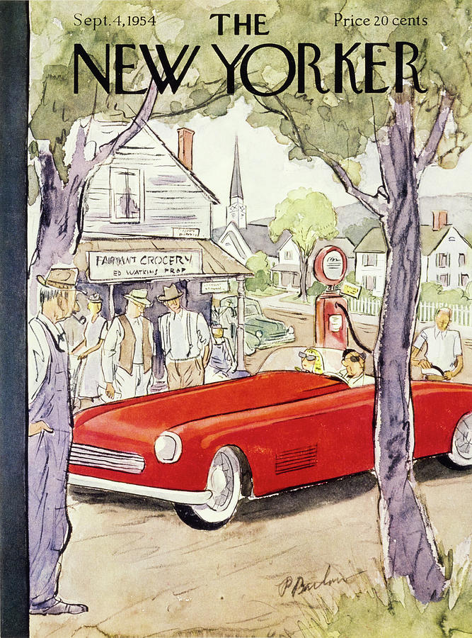 New Yorker September 4 1954 Painting by Perry Barlow