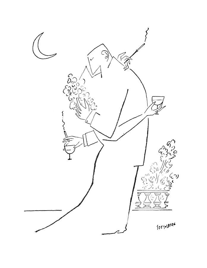 New Yorker September 5th, 1953 Drawing by Saul Steinberg