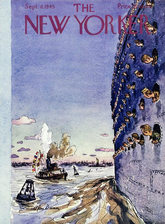 New Yorker September 8 1945 Painting by Alan Dunn
