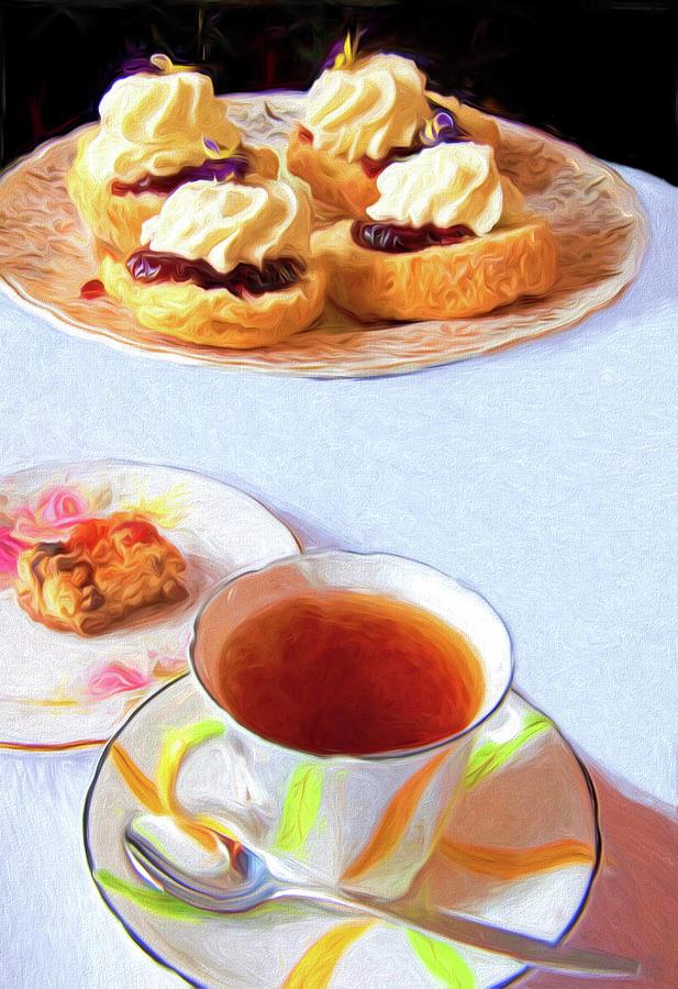 New Zealand Scones And Tea Mixed Media