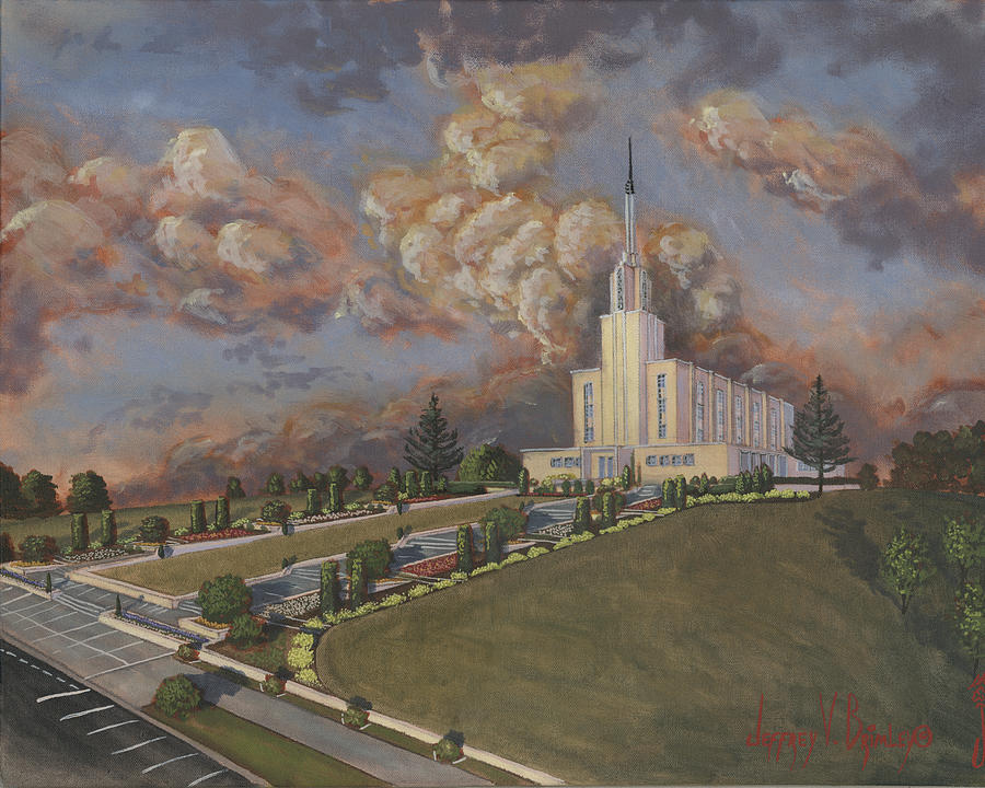 Temple Painting - New Zealand Temple by Jeff Brimley