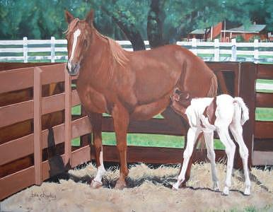 Newborn Painting by Bev Chudey