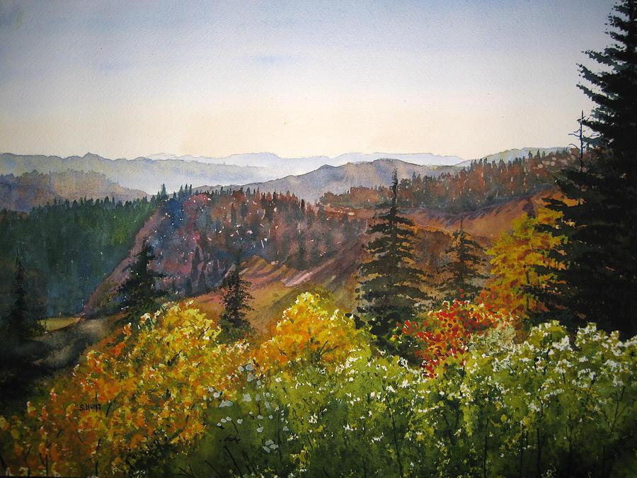 Newfound Gap Painting - Newfound Gap by Shirley Braithwaite Hunt