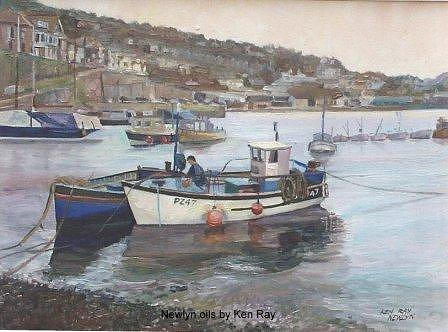 Newlyn Harbour Painting by Ken Ray