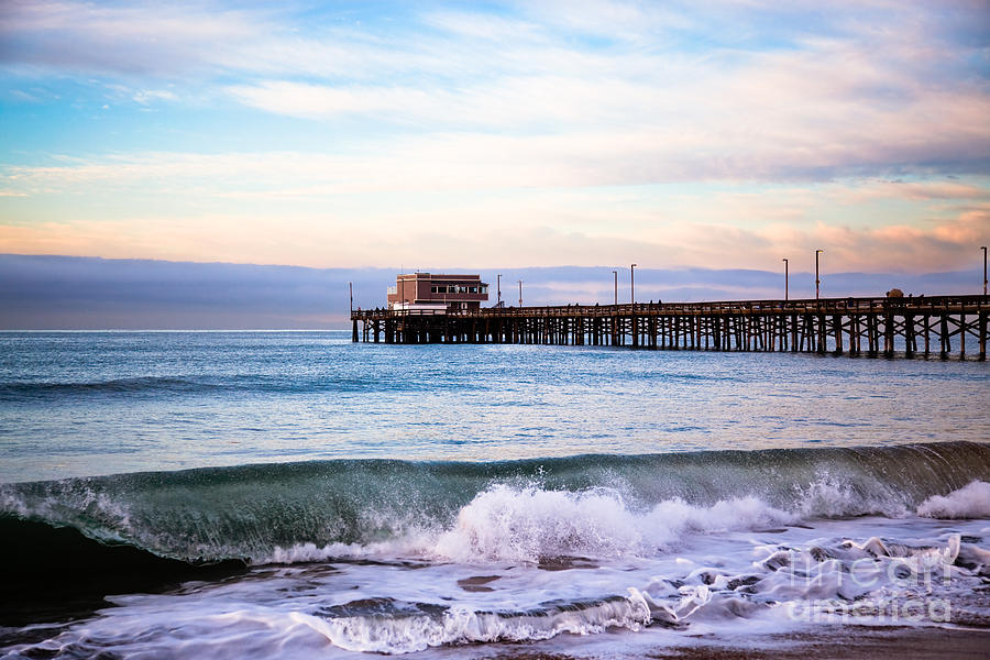 Balboa Peninsula Photograph - Newport Beach Ca Pier At Sunrise by Paul Velgos