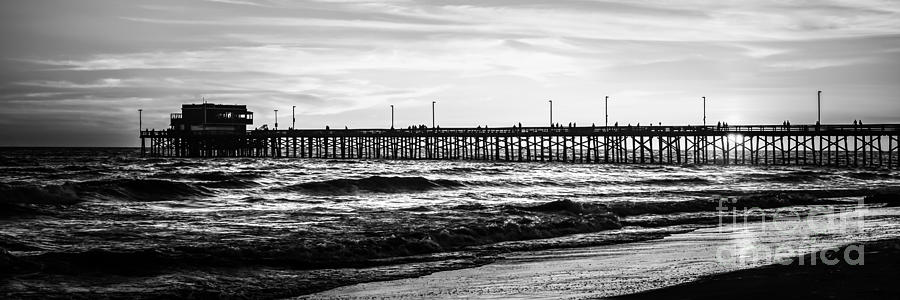 Newport Beach Pier Panorama Picture Photograph