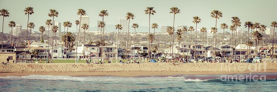 America Photograph - Newport Beach Skyline Vintage High Resolution Panorama Photo by Paul Velgos