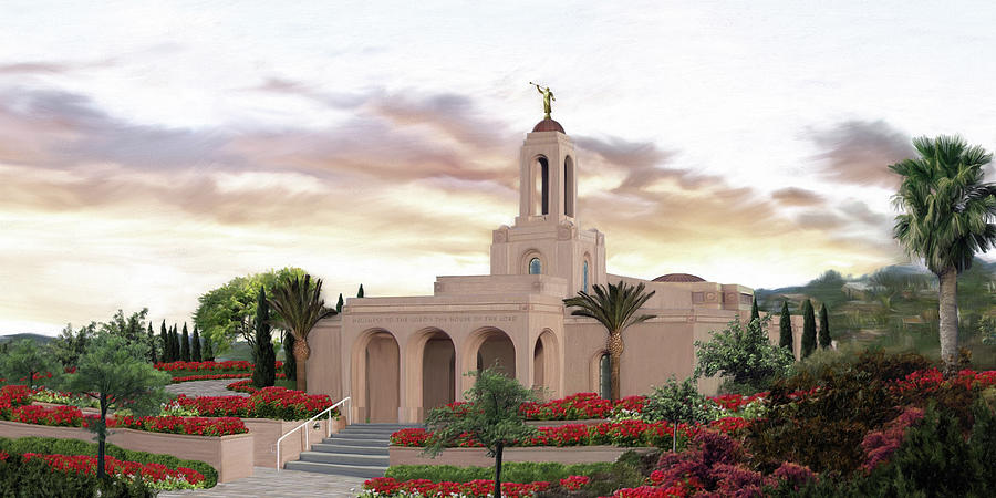 Newport Painting - Newport Beach Temple by Brent Borup