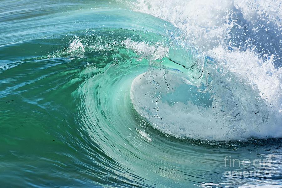 Newport Beach Wave Curl Photograph