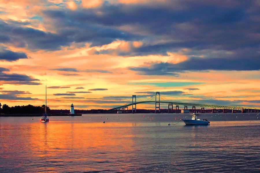 Newport Photograph - Newport Gold by Joann Vitali