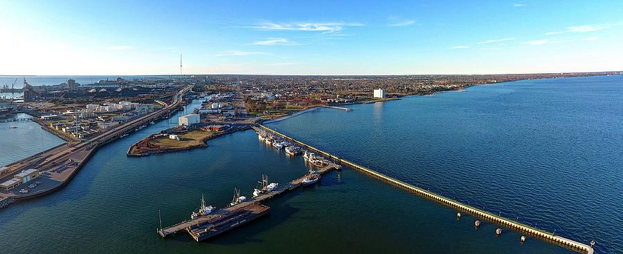 Newport News Photograph - Newport News  by Tredegar DroneWorks