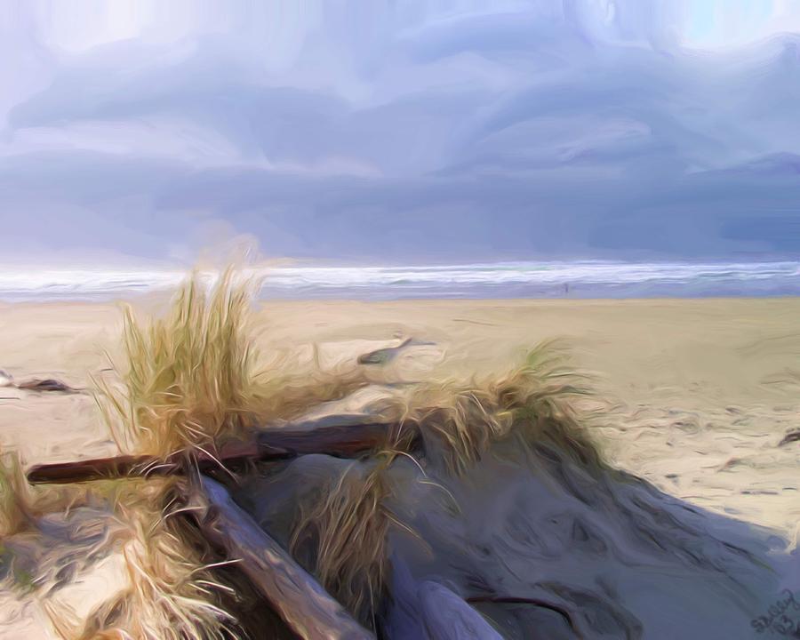 Beaches Painting - Newport Oregon Summer Beach by Shelley Bain