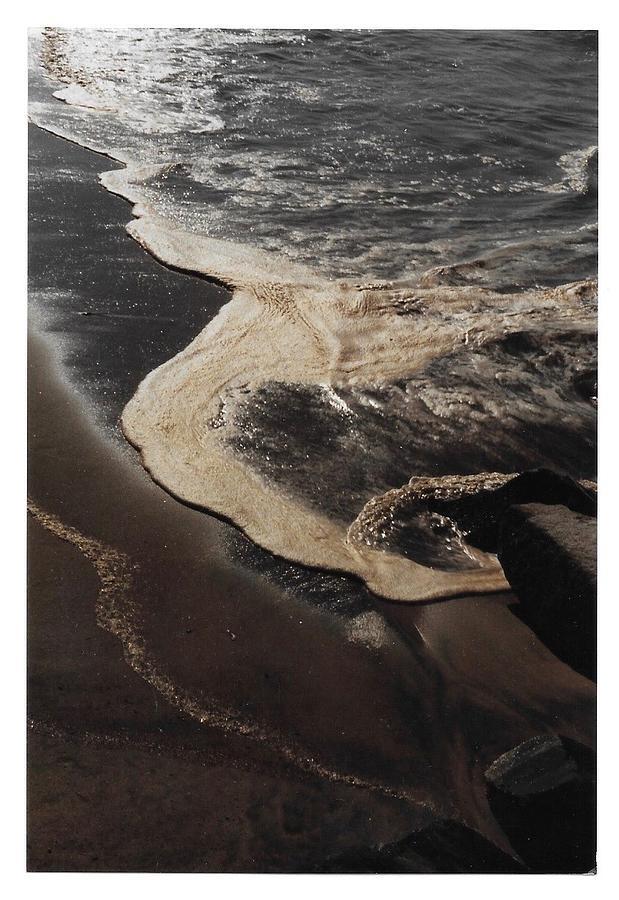 Newport Surf After Oil Spill by Paula Hunter