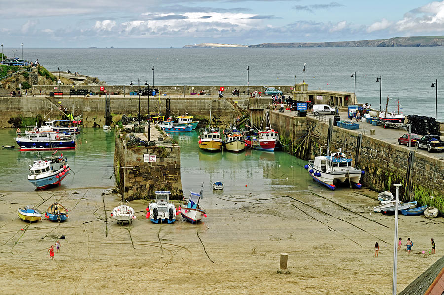 Newquay Harbour At Low Water Photograph