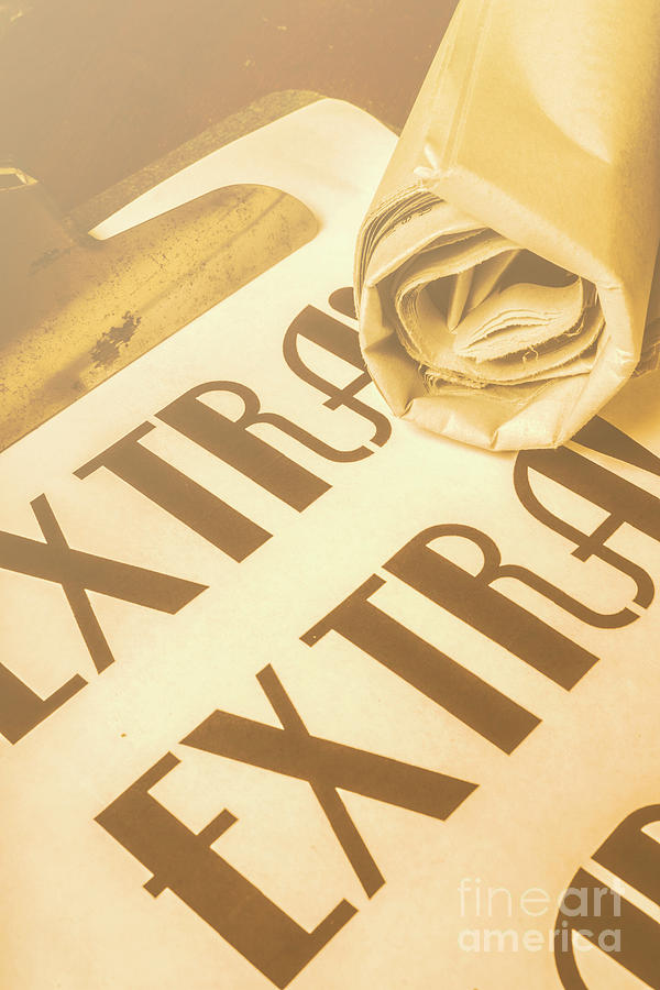 Paper Photograph - News In Detail by Jorgo Photography - Wall Art Gallery