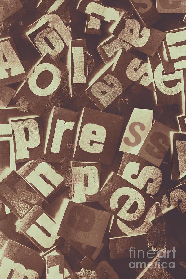 Press Photograph - Newsprint Journalism by Jorgo Photography - Wall Art Gallery