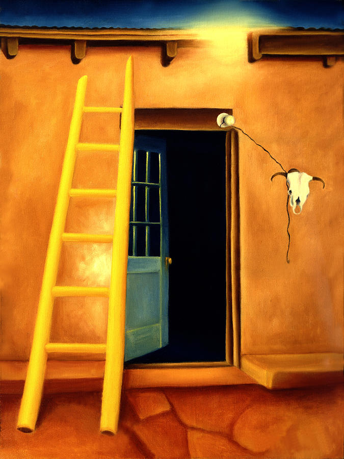 Santa Fe Painting - Next Door To Georgias by Anni Adkins
