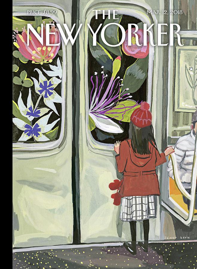 Girl Painting - Next Stop Spring by Jenny Kroik