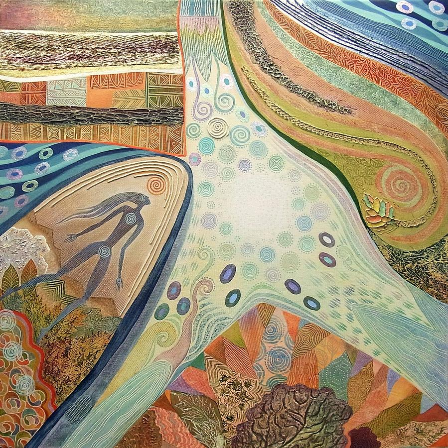 Ethnic Painting - Nexus Point Approaching by Jennifer Baird