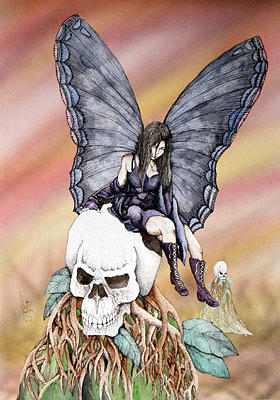Nexus the dark fairy Painting by Preston Shupp