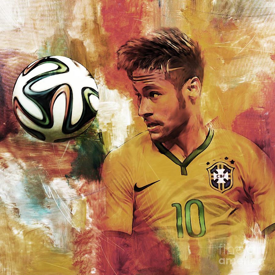 Neymar Painting - Neymar 05d by Gull G