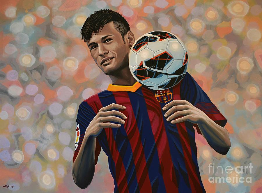 Neymar Painting - Neymar by Paul Meijering