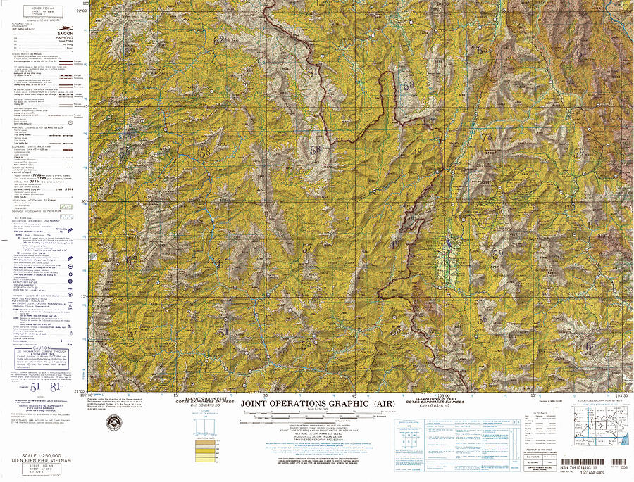 Dien Bien Phu Vietnam Map.Nf 48 09 Dien Bien Phu Joint Operations Graphic Air Topographic