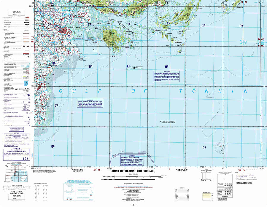 Nf 48 16 Hai Phong Joint Operations Graphic Air Topographic Map