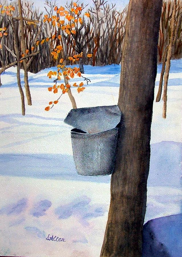 Sugaring Painting - Nh Goldmine by Sharon E Allen